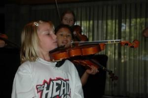 Suzuki violin group class